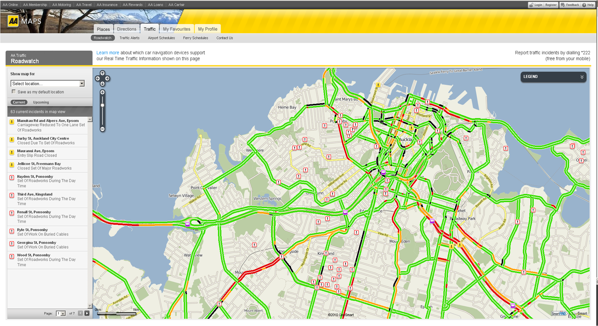 Geosmart Adds Live Traffic Flow Data To Aa Maps And Roadwatch Online